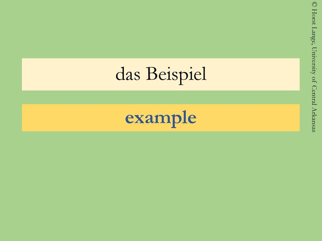 das Beispiel example