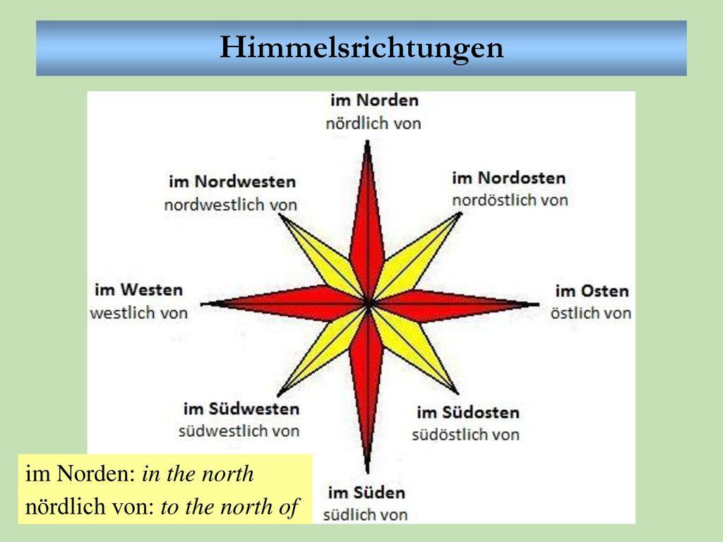 Himmelsrichtungen im Norden: in the north