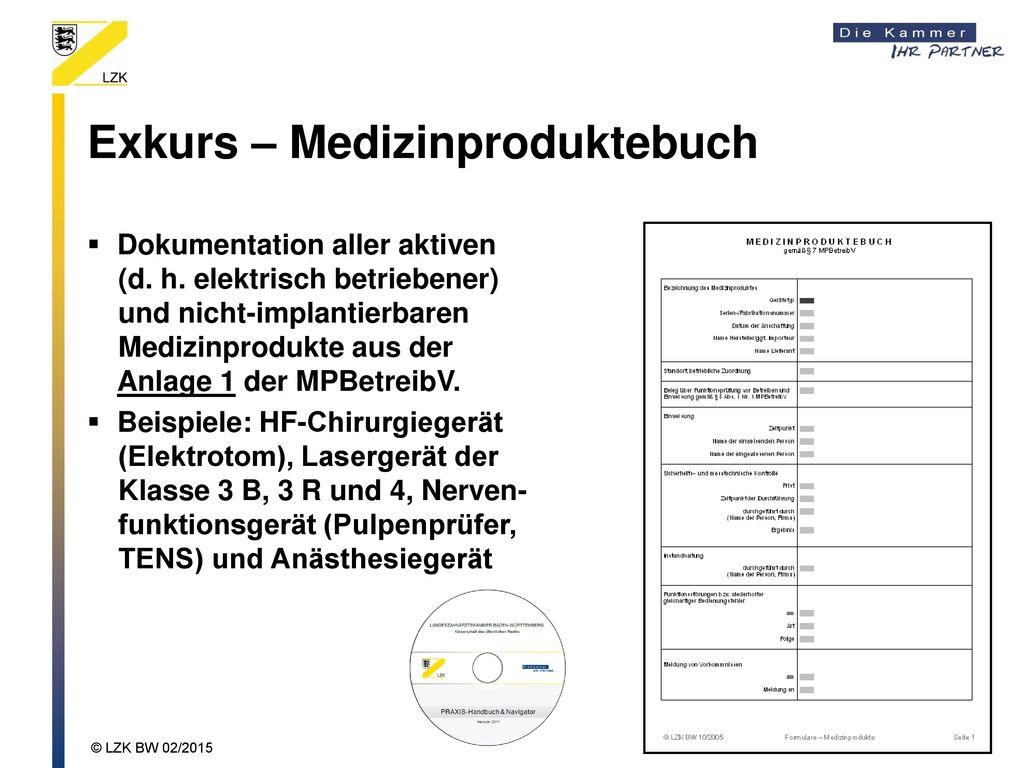 Exkurs – Medizinproduktebuch