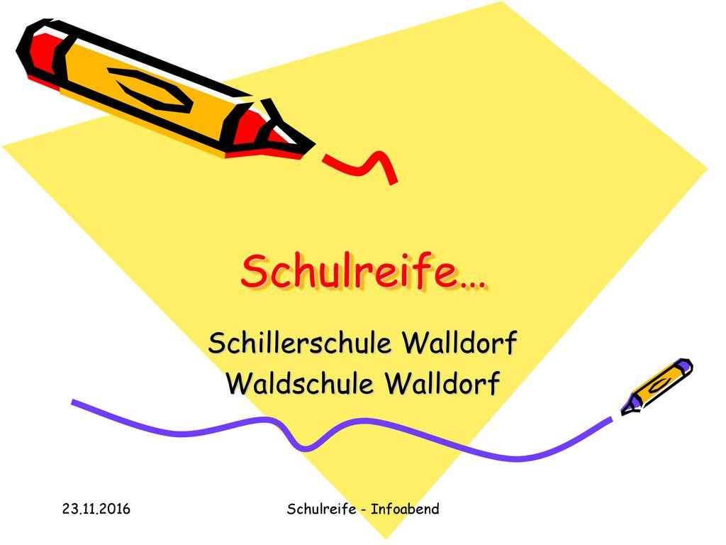 Schillerschule Walldorf Waldschule Walldorf