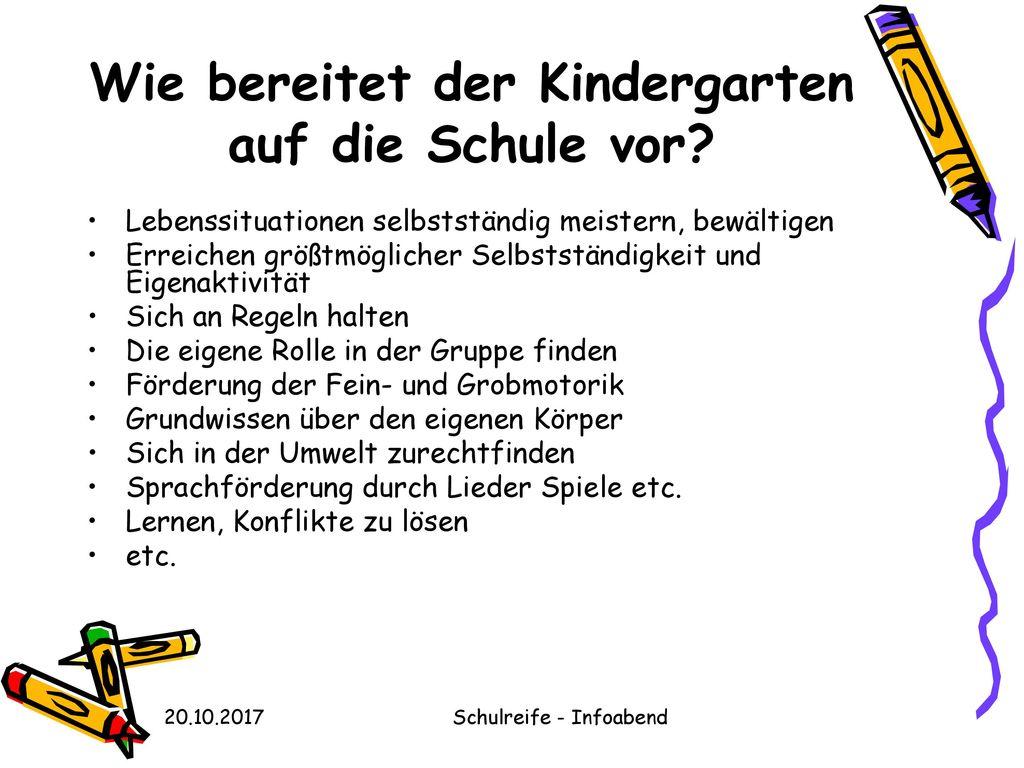 Wie bereitet der Kindergarten auf die Schule vor