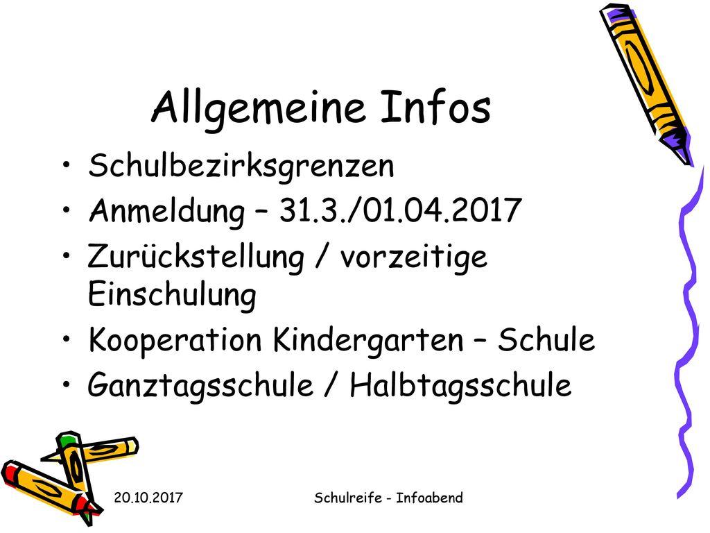 Schulreife - Infoabend