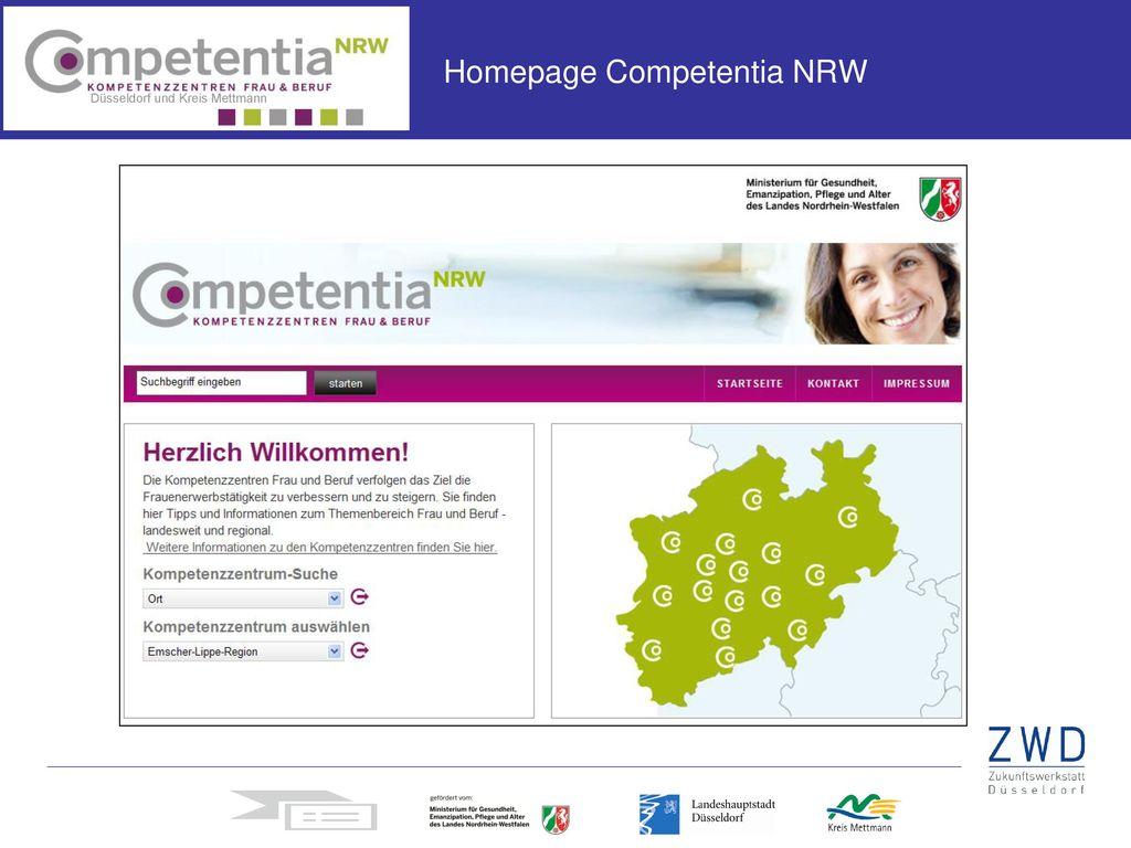 Homepage Competentia NRW