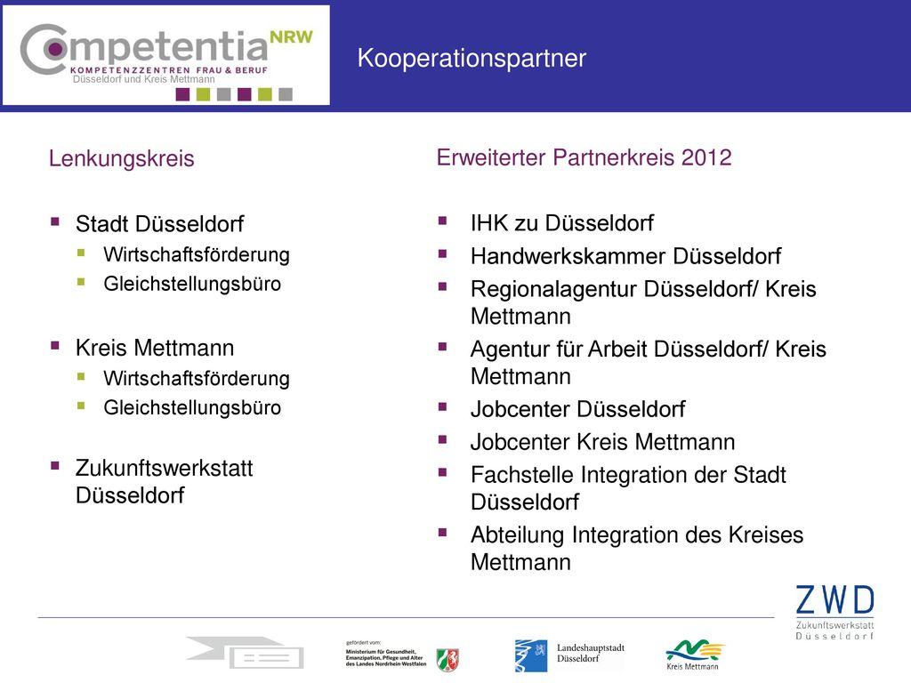 Kooperationspartner Lenkungskreis Stadt Düsseldorf Kreis Mettmann