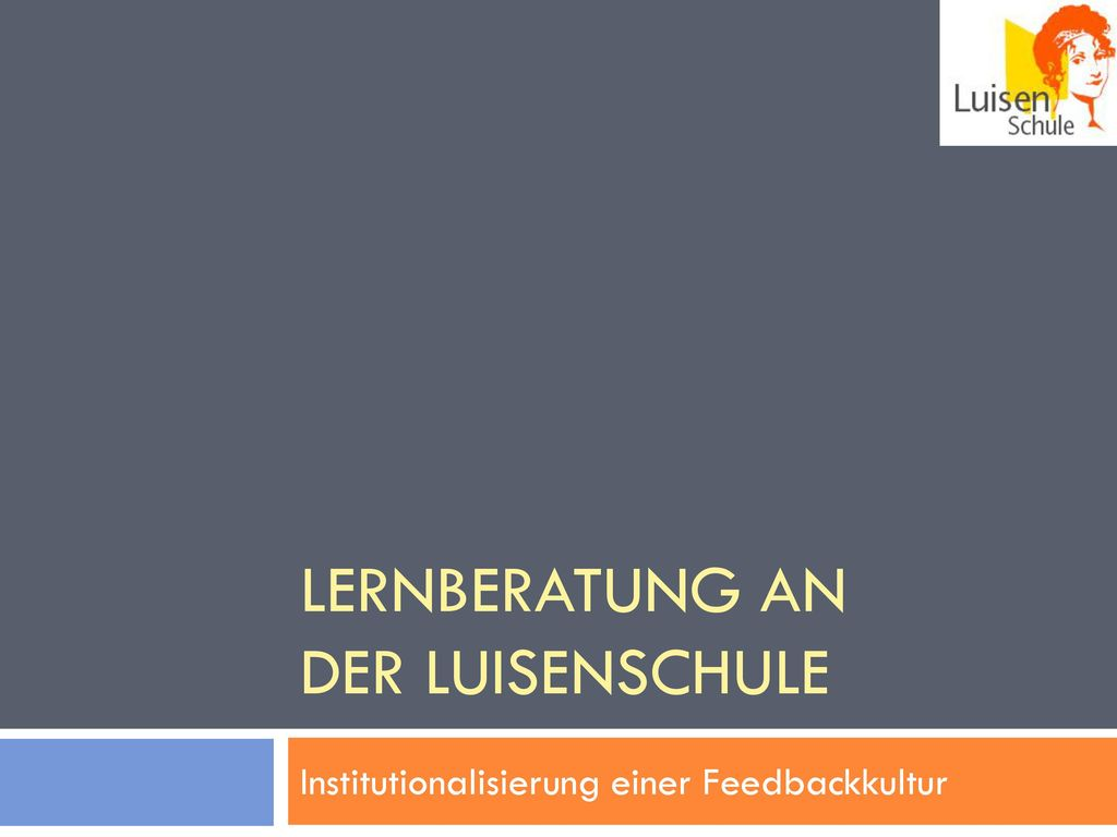 Lernberatung an der Luisenschule