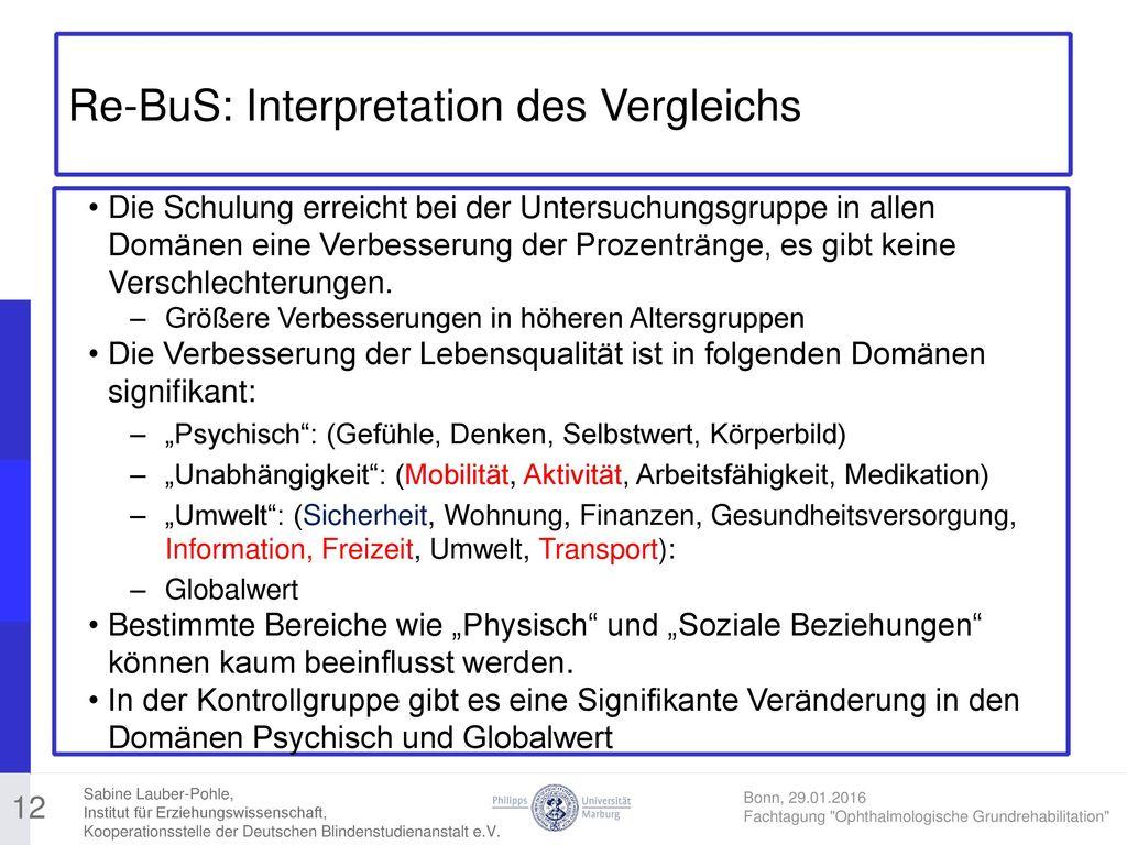 Re-BuS: Interpretation des Vergleichs