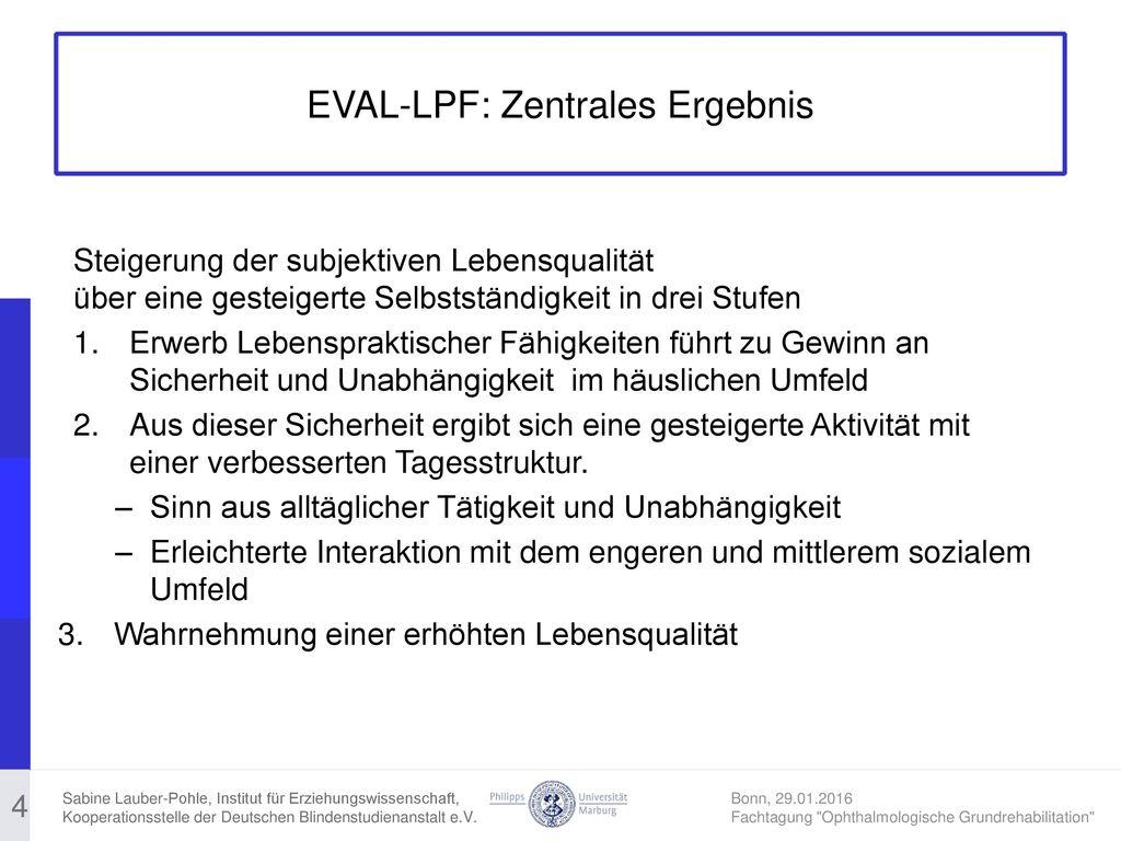EVAL-LPF: Zentrales Ergebnis
