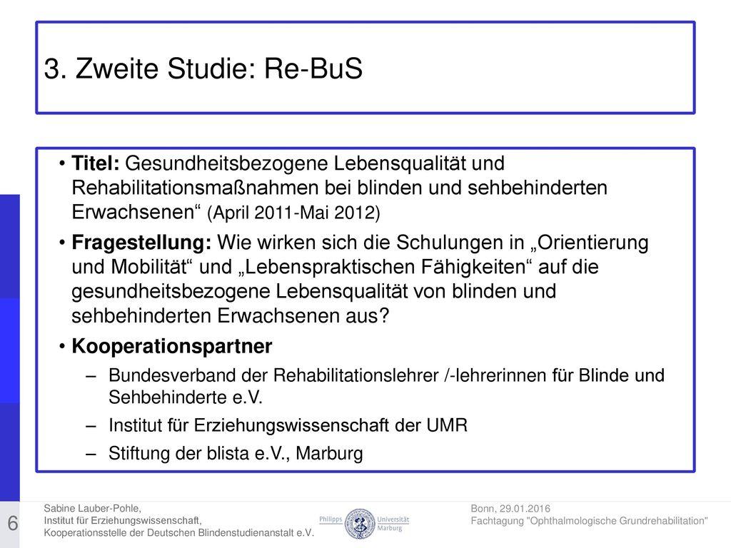 3. Zweite Studie: Re-BuS