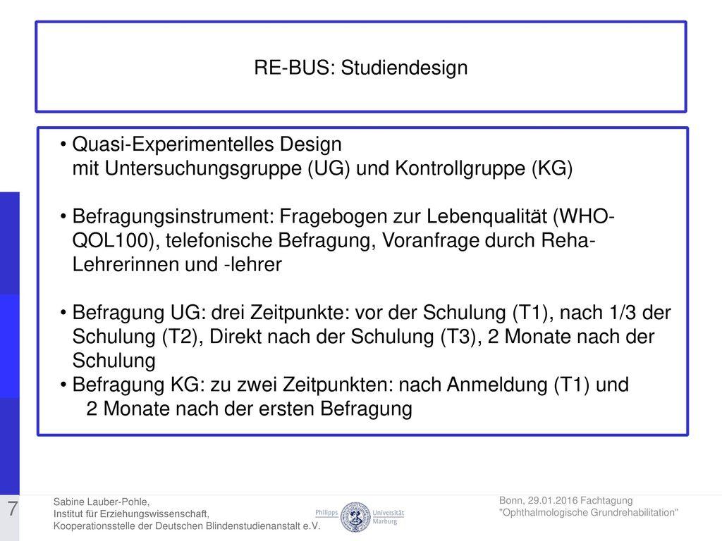 RE-BUS: Studiendesign