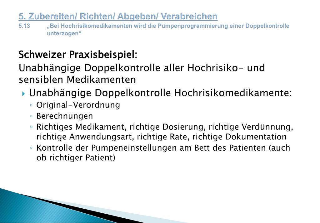 Schweizer Praxisbeispiel: