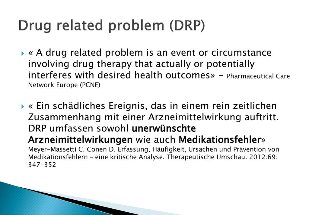 Drug related problem (DRP)