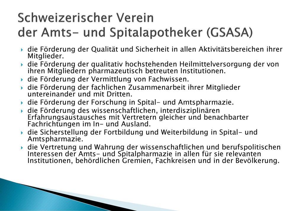 Schweizerischer Verein der Amts- und Spitalapotheker (GSASA)