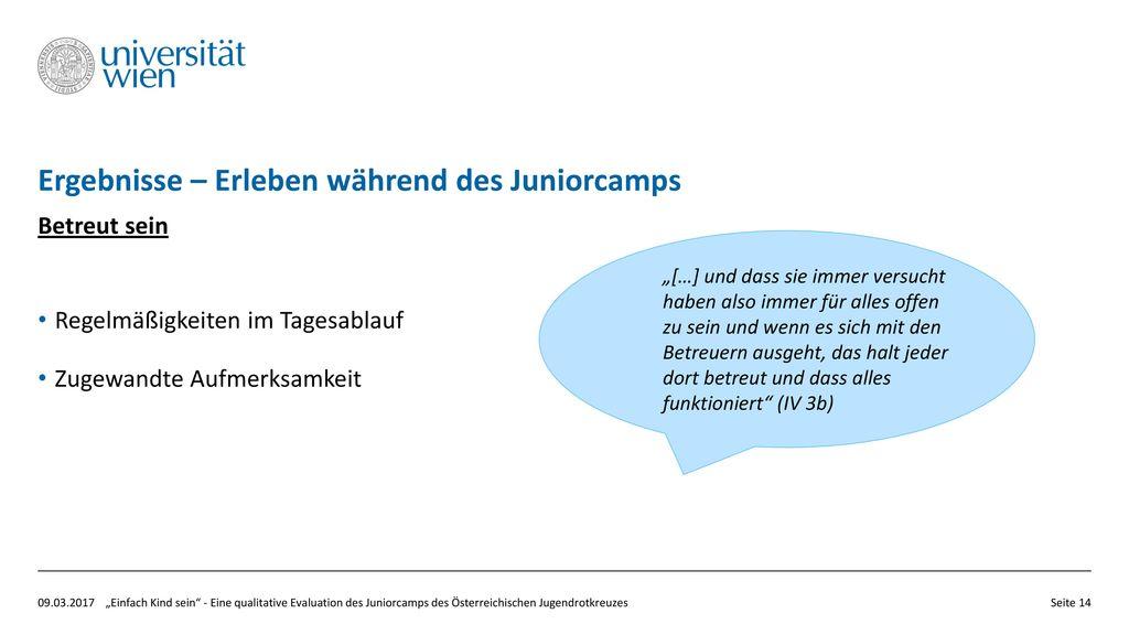 Ergebnisse – Erleben während des Juniorcamps