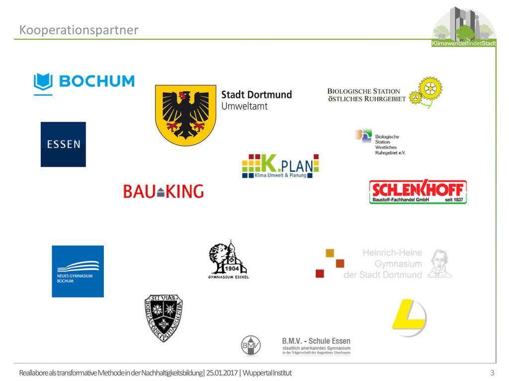 Kooperationspartner Reallabore als transformative Methode in der Nachhaltigkeitsbildung| 25.01.2017 | Wuppertal Institut.
