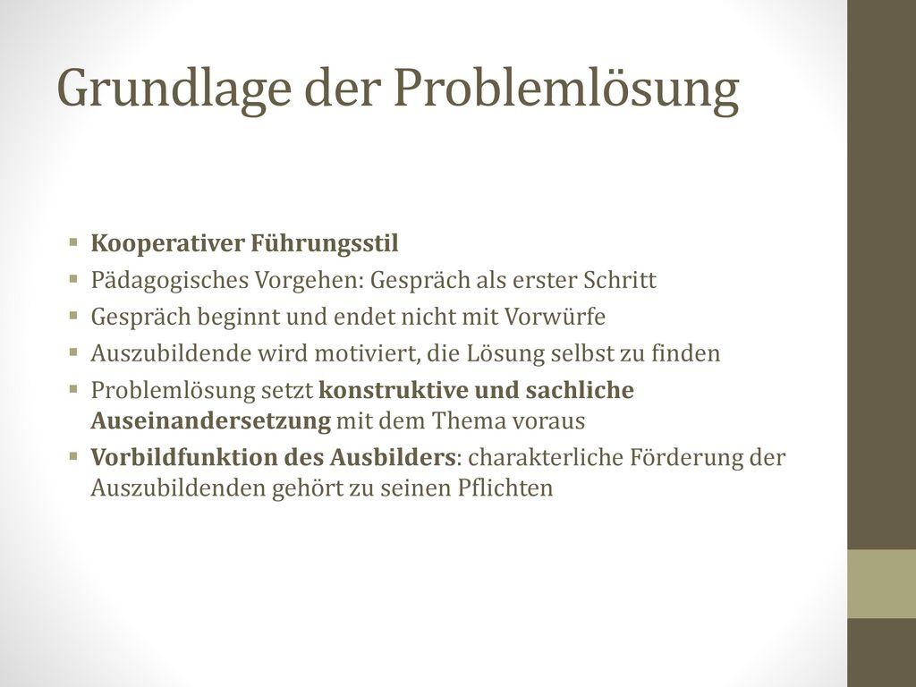 Grundlage der Problemlösung