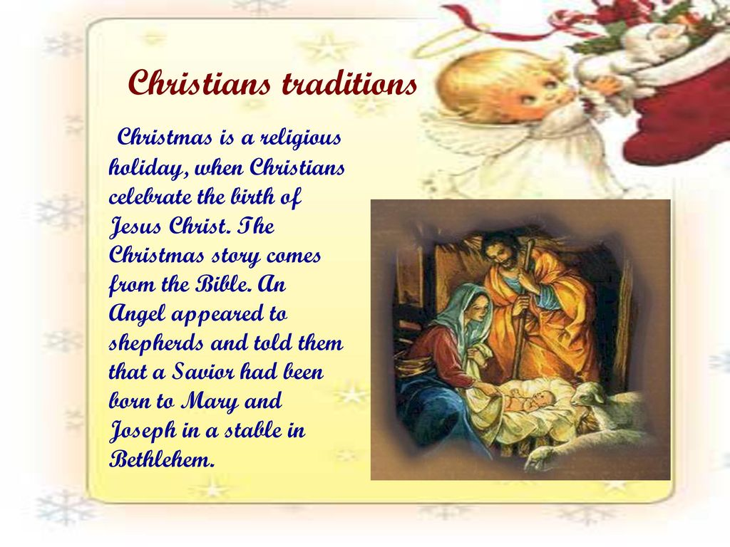 Christians traditions