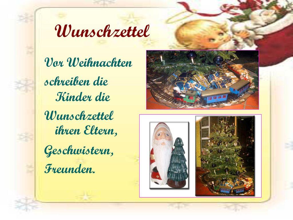 Wunschzettel Vor Weihnachten schreiben die Kinder die