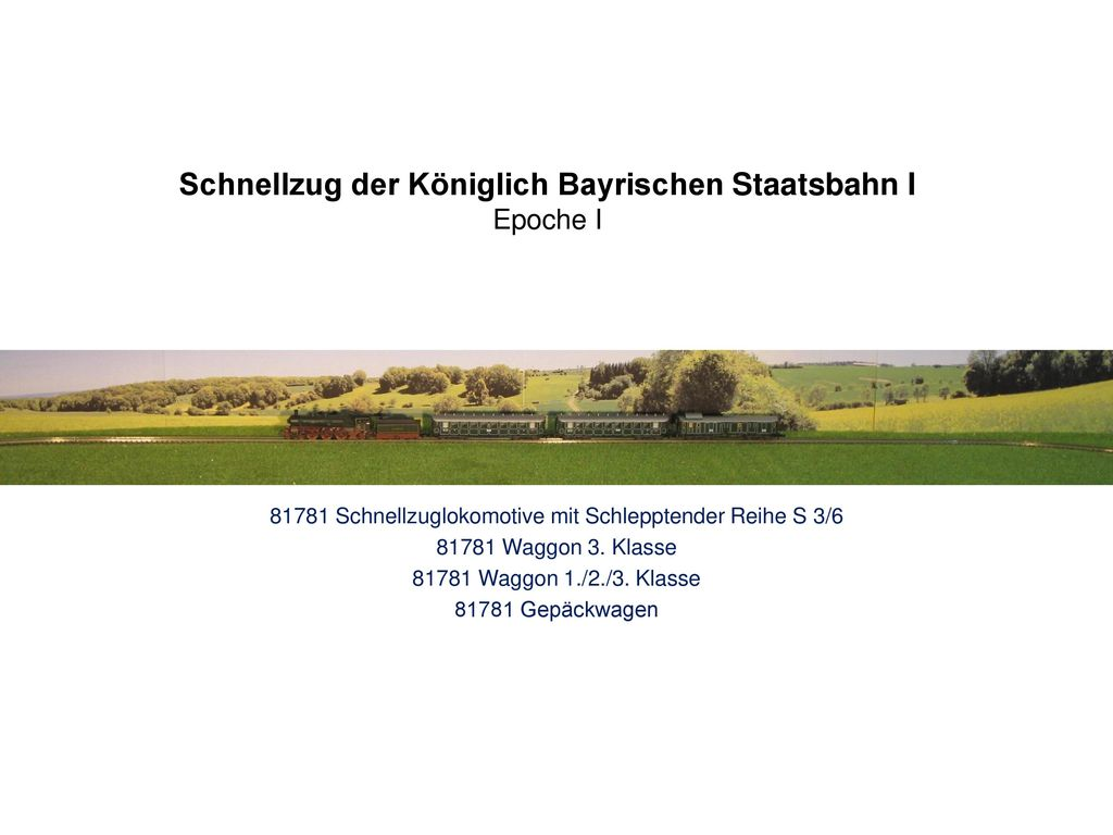 Schnellzug der Königlich Bayrischen Staatsbahn I Epoche I