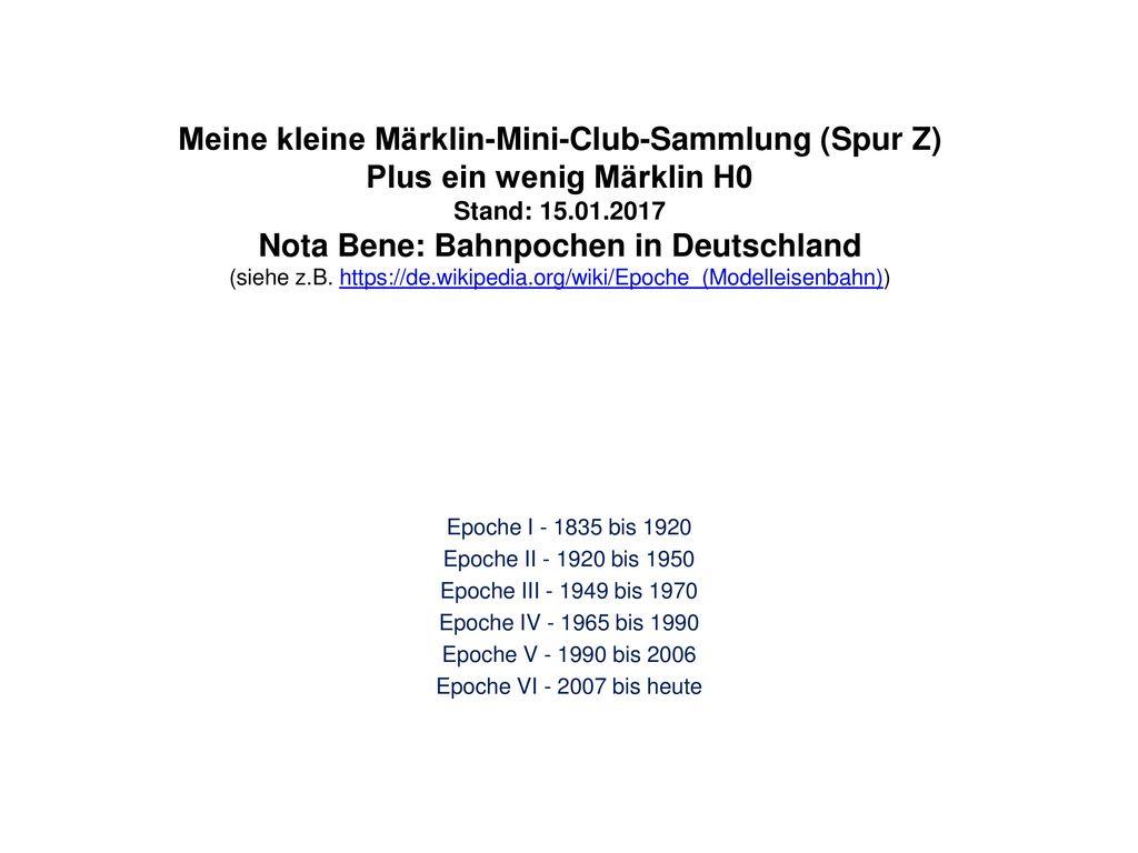 Meine kleine Märklin-Mini-Club-Sammlung (Spur Z)