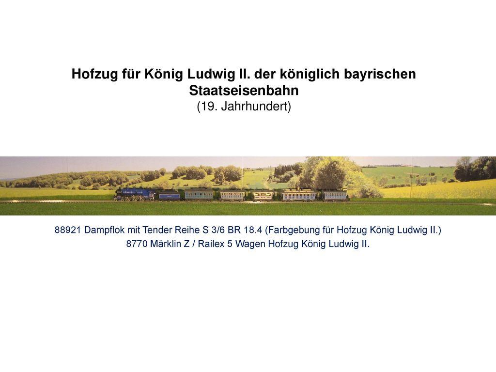 8770 Märklin Z / Railex 5 Wagen Hofzug König Ludwig II.