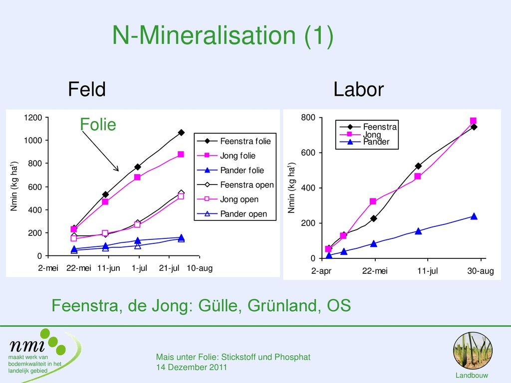 N-Mineralisation (1) Feld Labor Folie