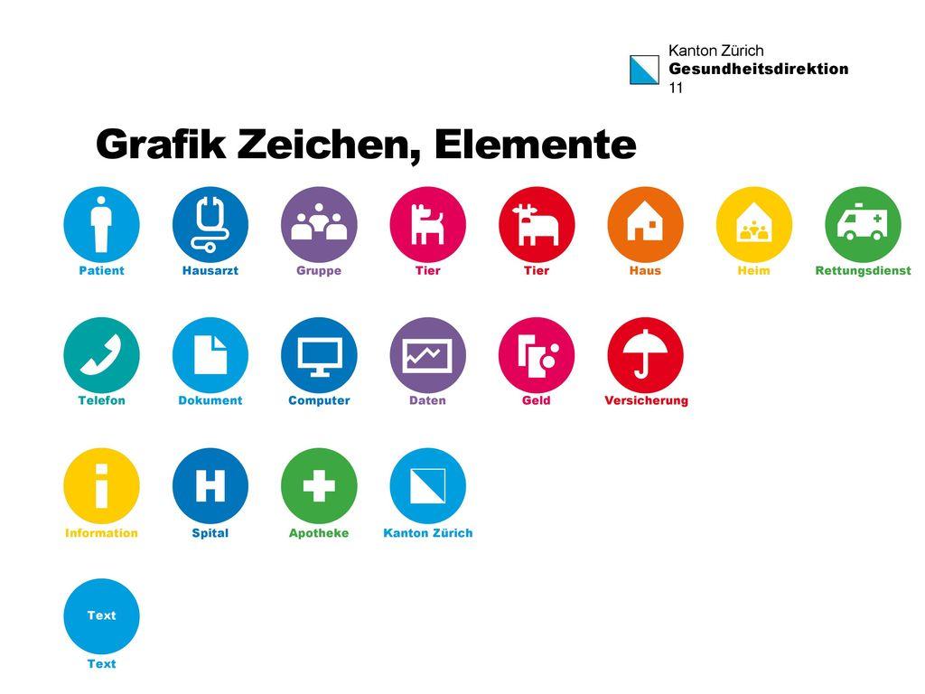 Grafik Zeichen, Elemente