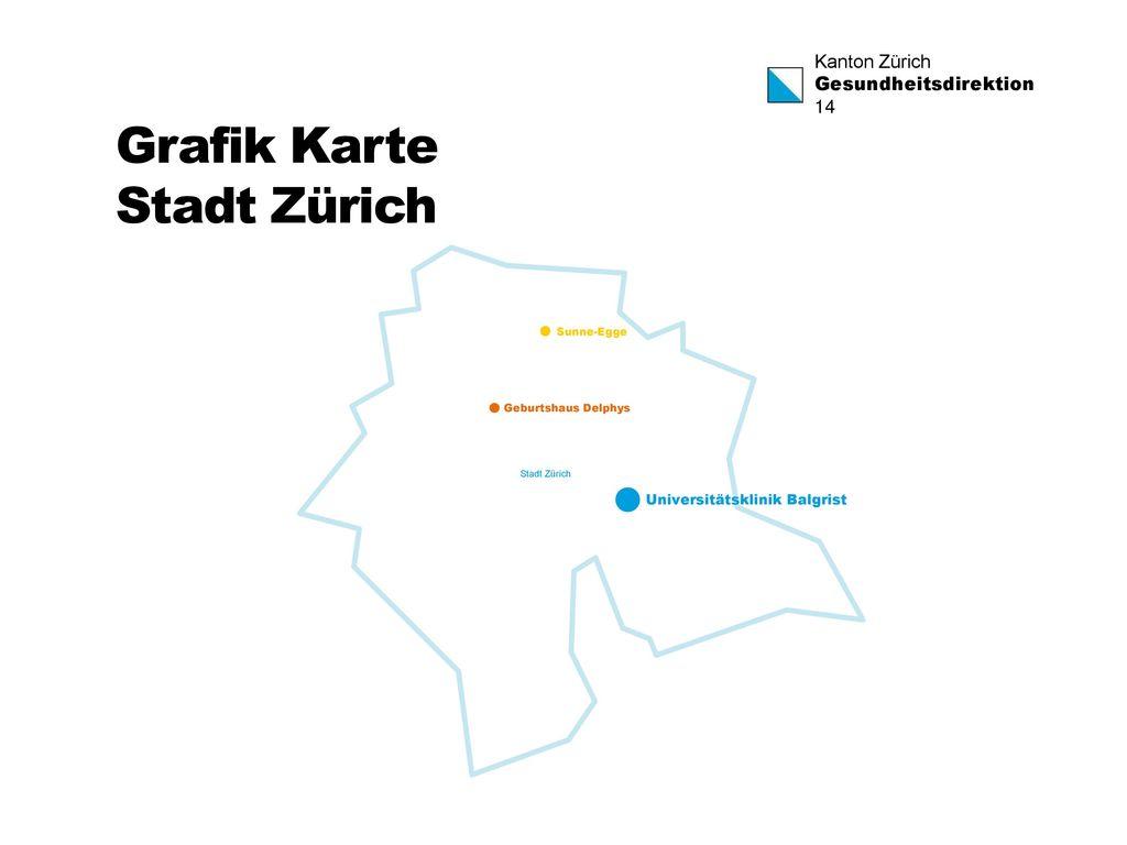 Grafik Karte Stadt Zürich