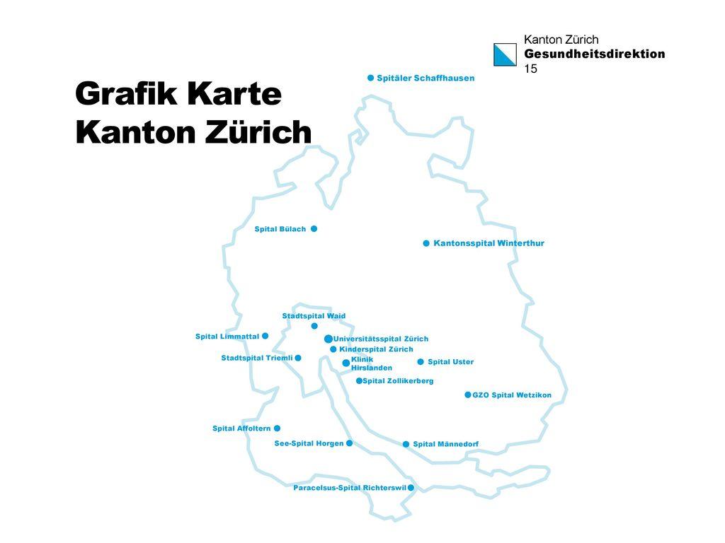 Grafik Karte Kanton Zürich