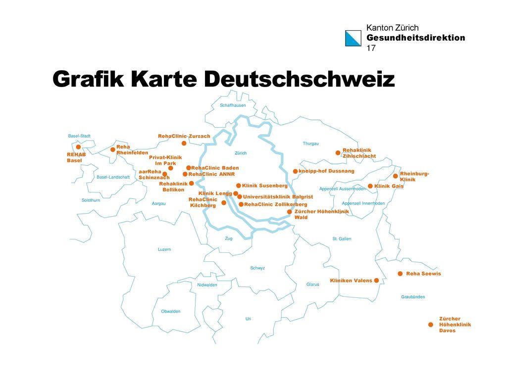 Grafik Karte Deutschschweiz