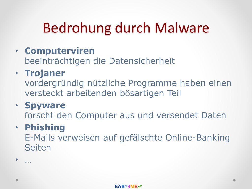 Bedrohung durch Malware