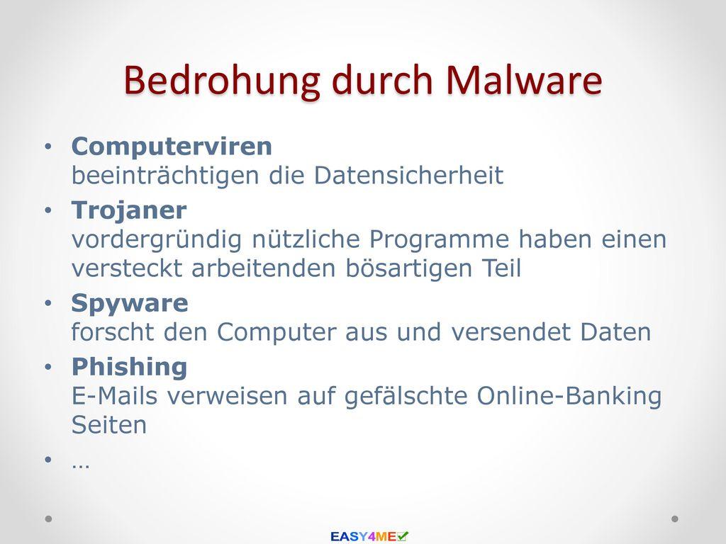 Bedrohung durch Malware