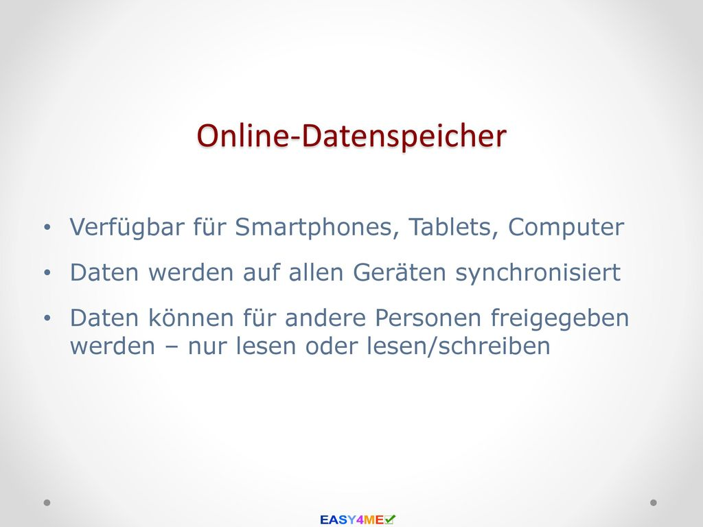 Online-Datenspeicher