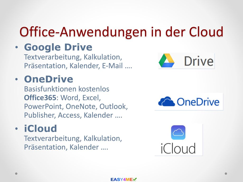Office-Anwendungen in der Cloud