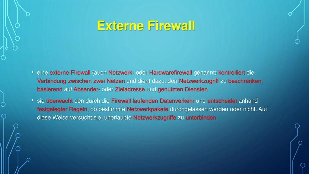 Externe Firewall