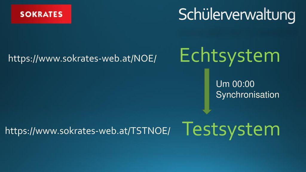 Echtsystem Testsystem Schülerverwaltung