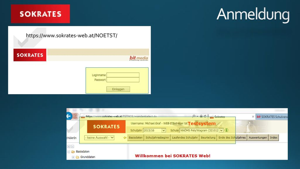Anmeldung https://www.sokrates-web.at/NOETST/