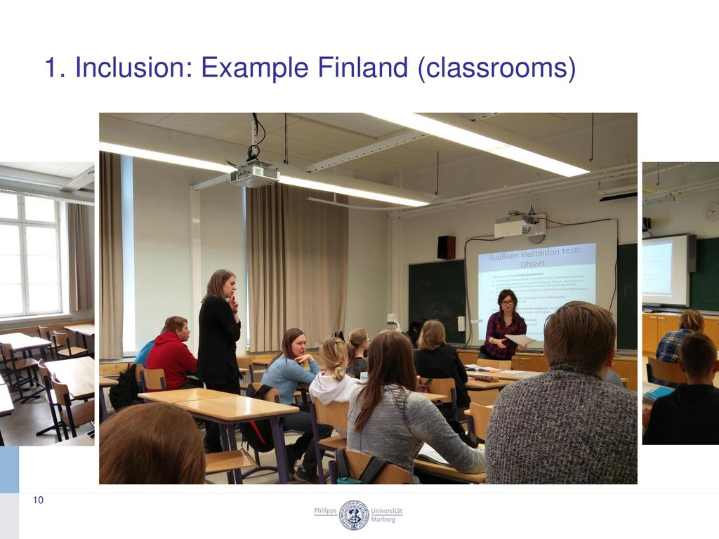 1. Inclusion: Example Finland (classrooms)