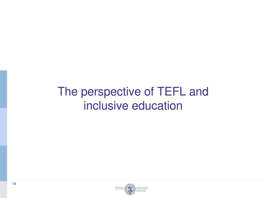 The perspective of TEFL and inclusive education