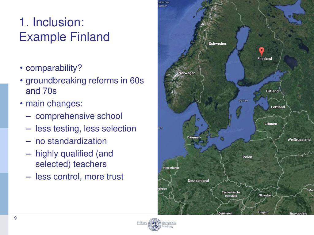 1. Inclusion: Example Finland