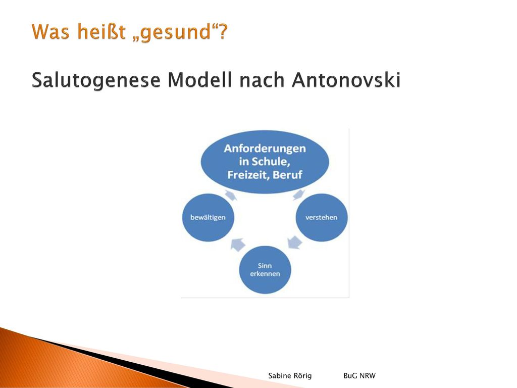 """Was heißt """"gesund Salutogenese Modell nach Antonovski"""