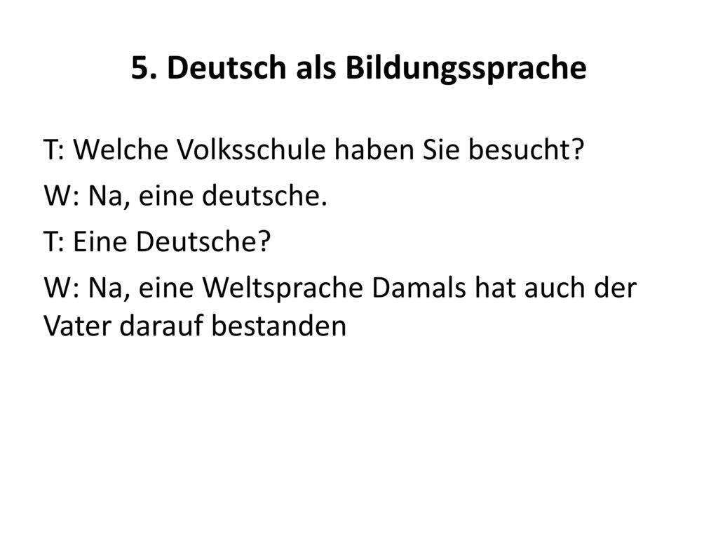5. Deutsch als Bildungssprache