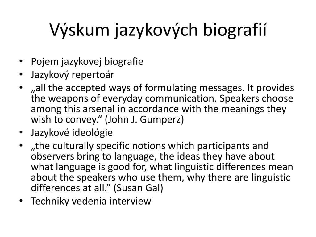 Výskum jazykových biografií