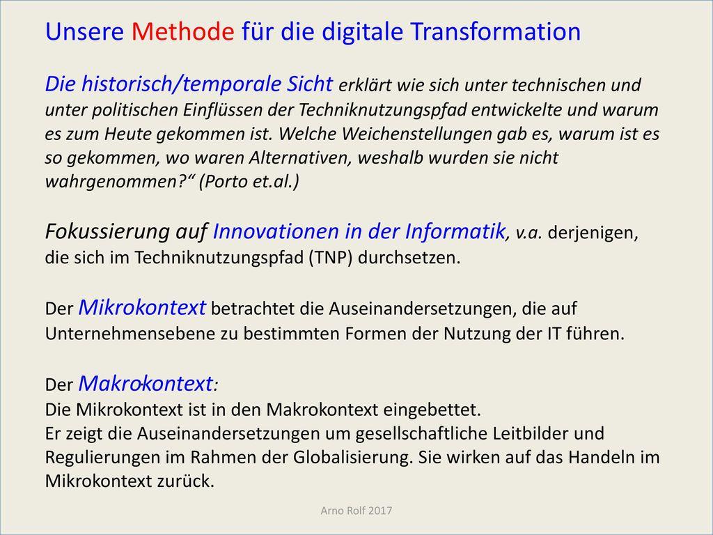 Unsere Methode für die digitale Transformation