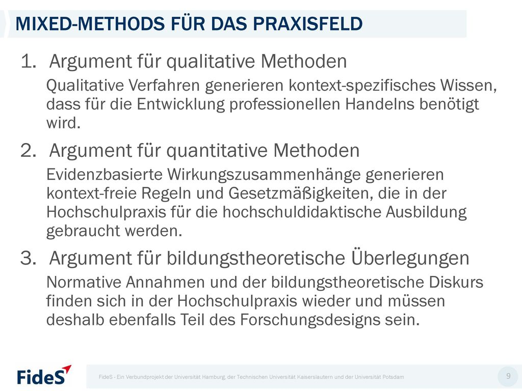 Mixed-Methods für das Praxisfeld