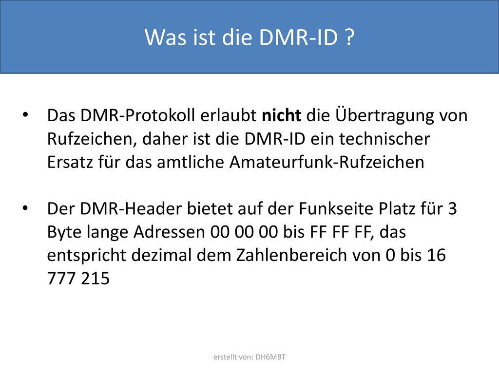 Was ist die DMR-ID