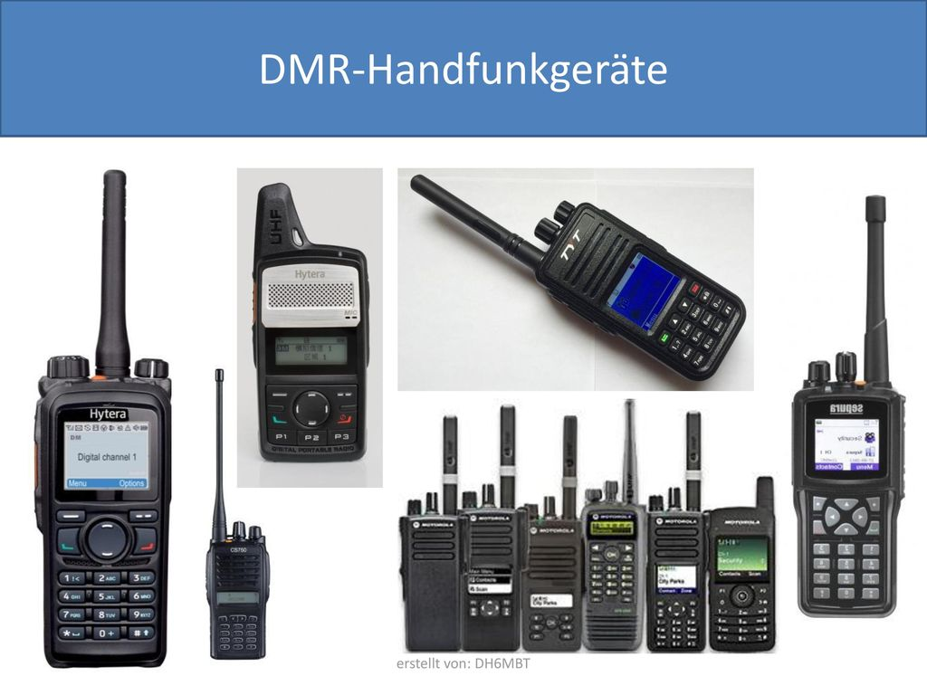 DMR-Handfunkgeräte erstellt von: DH6MBT