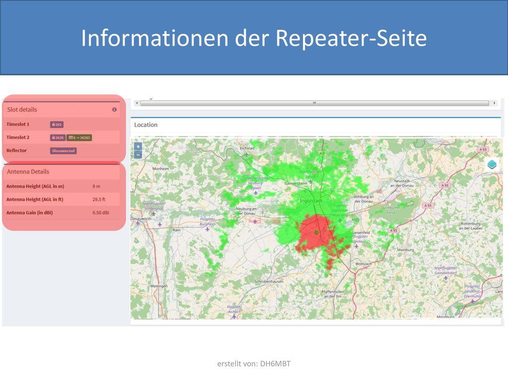 Informationen der Repeater-Seite