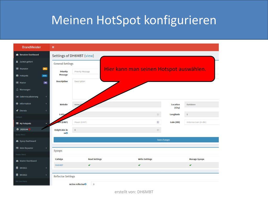Meinen HotSpot konfigurieren
