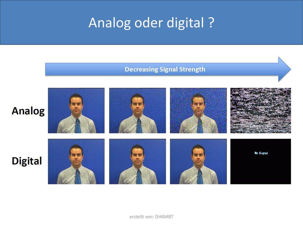 Analog oder digital erstellt von: DH6MBT