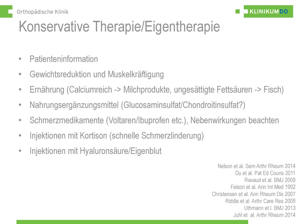 Konservative Therapie/Eigentherapie
